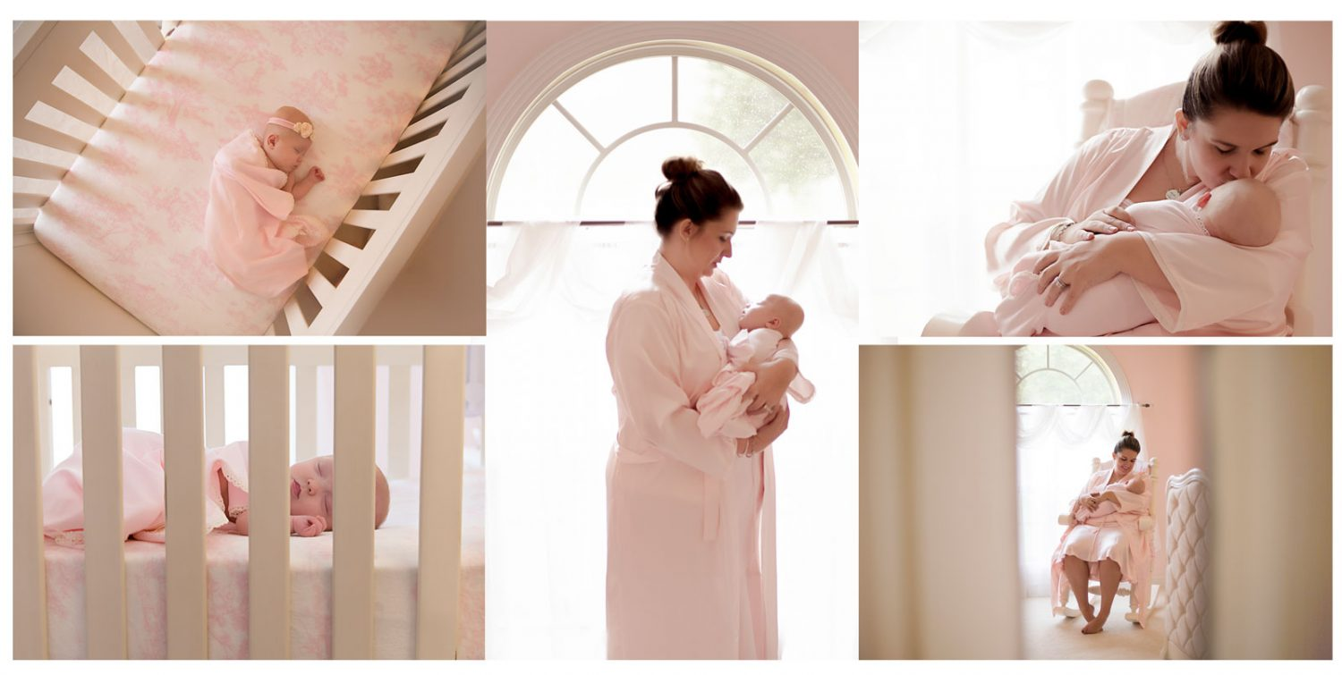Lexington, KY newborn photographer collage picture of different newborn lifestyle shots