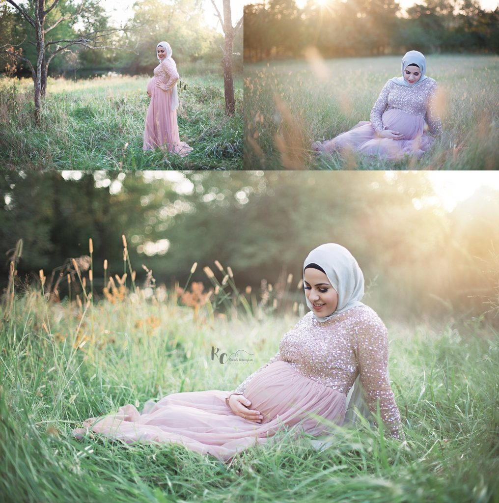Collage of maternity session by Lexington, KY Maternity Photographer.