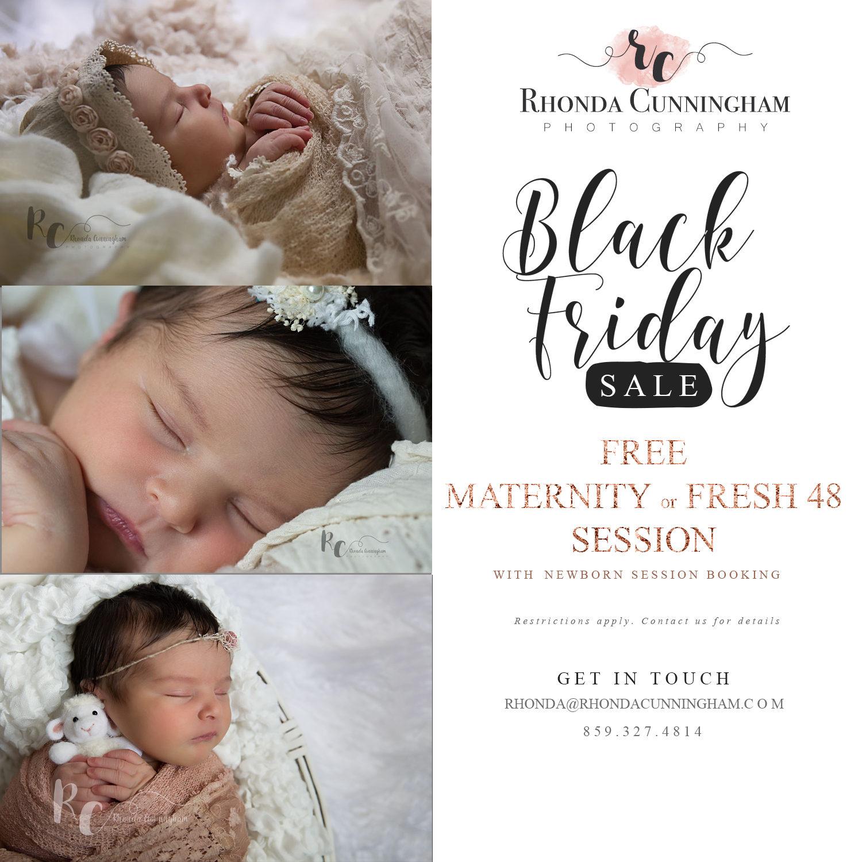 Black Friday Sale Flier for Lexington, KY Newborn Photographer